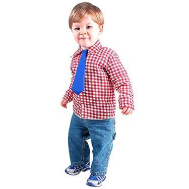 Imagem de Camisa Xadrez Com Gravata Roupa Festa Junina Bebê 1 a 3 anos (M - 2)