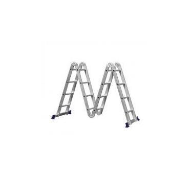 Escada de Alumínio Articulada 4x4 16 Degraus MOR -