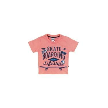 Camiseta Infantil Primeiros Passos Menino Skate Verão Praia Primeiros Passos Skate Boarding - Minore
