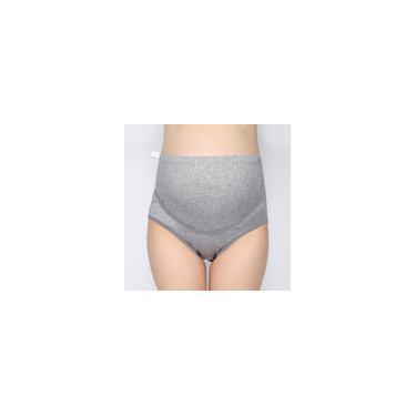 Calcinha feminina de cintura alta com listra sólida sem costura, cuecas macias para abdômen