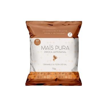 Pipoca Artesanal Mais Pura Sabor Caramelo e Flor de Sal 75g