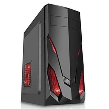 Gabinete Gamer HTST03 Design Moderno, Pixxo, Acessórios para Computador, Preto