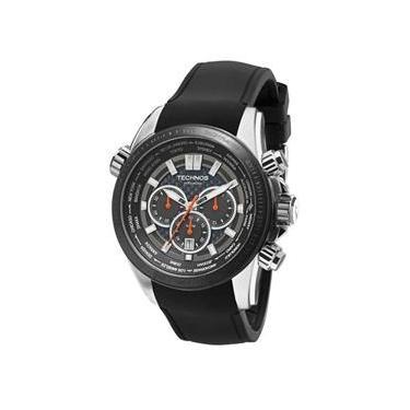 2a0713fd792 Jjóias PremiumComprar · Relógio Technos Masculino Hora Mundi Silicone Preto  com Cronógrafo OS2AAL 8K