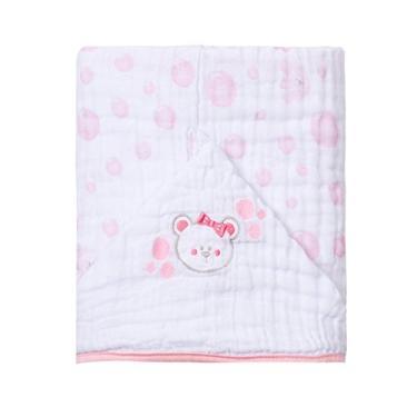 Toalha De Banho Soft Bordada, Papi Textil, Rosa