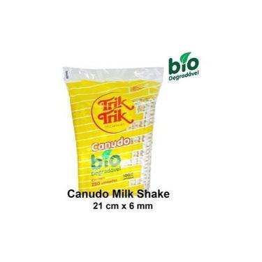 Canudo Embalado Biodegradável Milk Shake Trik Trik Super c/250 Unidades - 1 Pacote