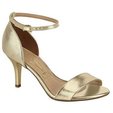 Sandalia Vizzano Salto Baixo Metalizado Dourado 6276116