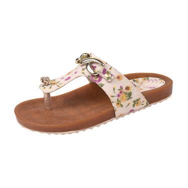 Sandália Raniel Calçados Birken Floral Branco  menina