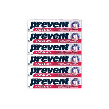 Kit 6x90g Prevent Creme Dental Antiplaca