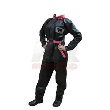 Capa de Chuva Para Motoqueiro Feminina Blusa E Calça Pvc Impermeavel Pantaneiro P