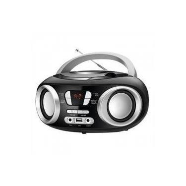 Rádio com Cd Mondial Nbx-13 6W USB/Auxiliar Preto Bivolt (Emb. contém 1un.)