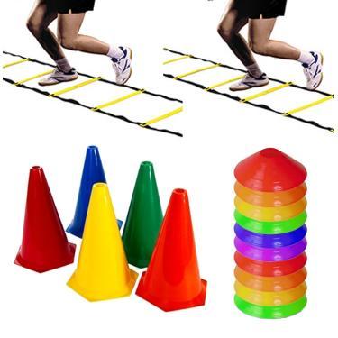 Kit 2 Escadas + 30 Cones + 40 Half Cone Funcional Rythmoon