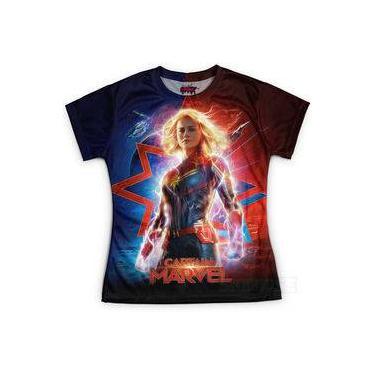 Camiseta Baby Look Feminina Capitã Marvel Md03