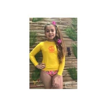 Camiseta Infantil Manga Longa Proteção Uva E Uvb