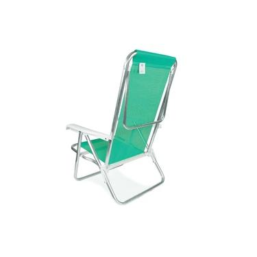 Cadeira De Praia Reclinável Mor Sannet 2271 Alumínio 8 Posições Verde-Maçã