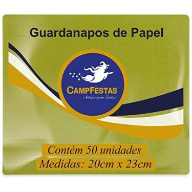 Guardanapo de Papel 50F, Campfestas, Amarelo, Pacote de 50