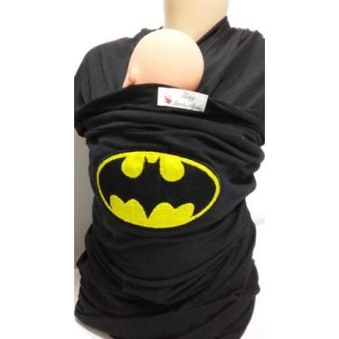 Imagem de Wrap Sling Bordado Tema Batman - Sling Mamae E Bebe