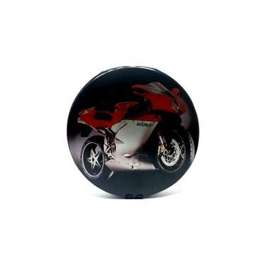 Estojo Cd/Dvd Motos Agusta Verm/Branca Porta CD e DVD