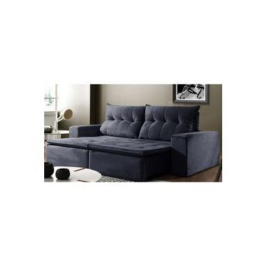 Sofá de Suede Retrátil e Reclinável 02 Módulos 1,20m 2,90 x 1,05 x 1,20 | Beirute