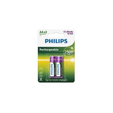Pilha recarregável AA 2500mAh R6B2RTU25/97 Philips BT 2 UN