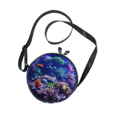 Cooper Girl Bolsa transversal redonda de coral, bolsa de ombro único para crianças, meninas, mulheres, meninos e adolescentes