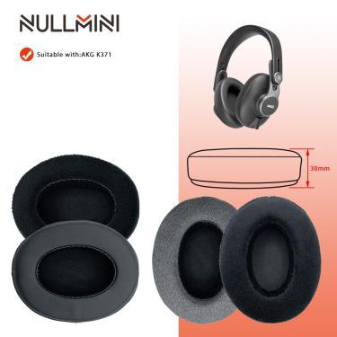 Imagem de Nullmini substituição earpads para akg k371 fones de ouvido couro veludo manga fone de ouvido