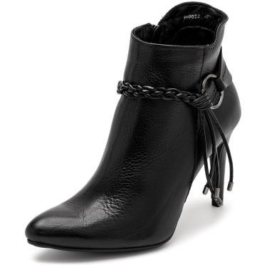 Bota Sandalo Feminina Clave De Fa Elis Black  feminino