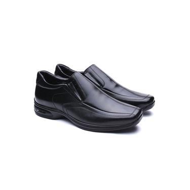 Sapato Masculino em Couro Legítimo Jota Pe 3D Air Preto