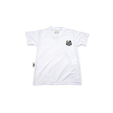Camiseta decote V Santos, Rêve D'or Sport, Bebê Menino, Branco, 8