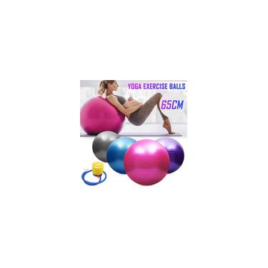 Imagem de 45/55/65 / 75cm Yoga Ginásio Bola de Fitness Exercício Abdominal Aeróbico Pilates