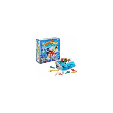 Imagem de Jogo Tubarão Bocão Com 12 Peixes Brinquedo Infantil Pescaria