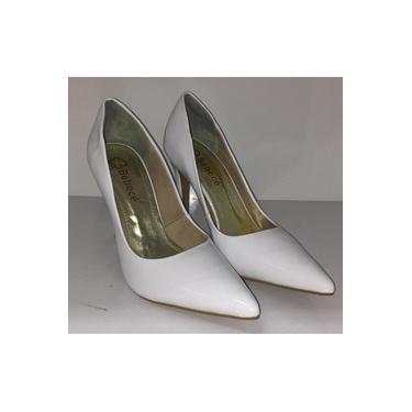Sapato Fem Scarpin Bebecê Verniz Branco- 9422-021