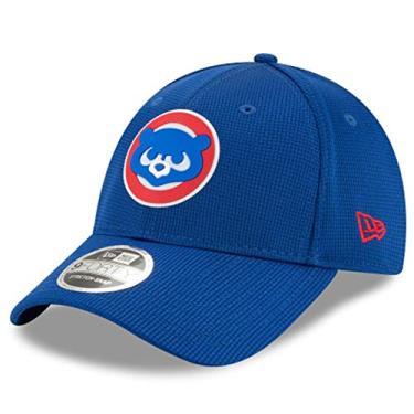 Boné New Era Chicago Cubs 940 Club House Azul Aba Curva