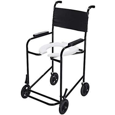 Imagem de Cadeira de Banho Higiênica com Rodas Assento Sanitário até 85kg