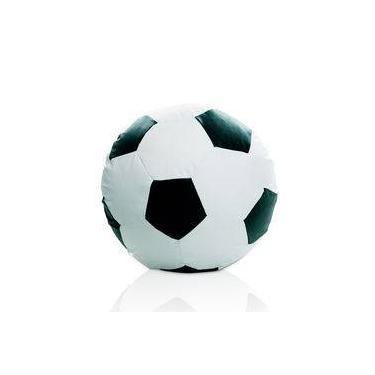 9a13c1afa2 Puff Bola de Futebol Grande - Branco  Preto