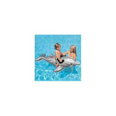 Bote Boia Inflável Golfinho Com Alça Piscina Intex 58535