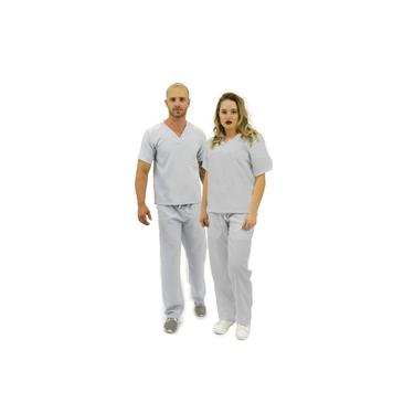 Pijama cirúrgico Básico unissex Cinza Oxford (R: 23)