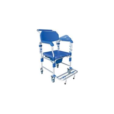Imagem de Cadeira De Banho Higiênica Adulto Dobrável Até 150kg 3x1 Multiuso D60 - Dellamed