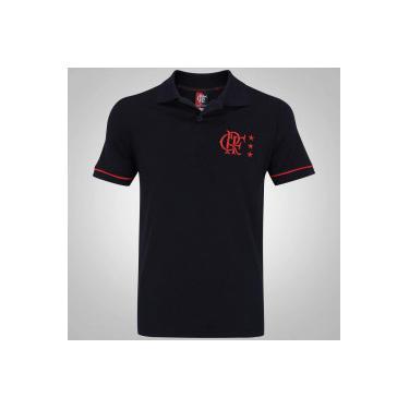 Camisa Polo do Flamengo Volt Braziline - Masculina - PRETO Braziline b9cbe7fd39cb2