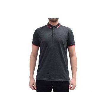 Camisa Polo Básica - Cinza/Rosa - Ellus