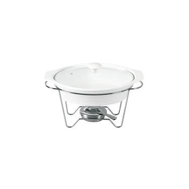 Imagem de Rechaud Oval em Porcelana com Queimador 37cm