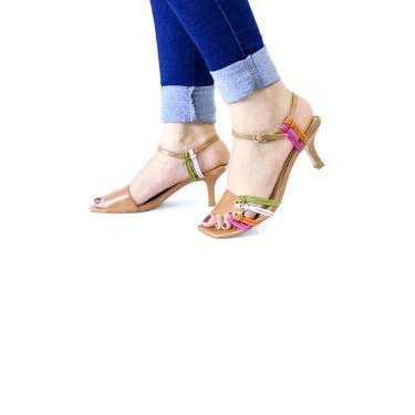 Sandália Detalhe de Cordões Coloridos Le scarpe di Bruna  feminino