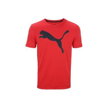 Camiseta Puma Ess Active Big Logo - Masculina - Vermelho Preto Puma b9ca7bcfaa7ff