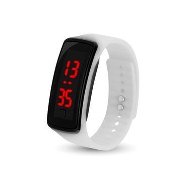 Relógio Smartwatch Feminino Masculino Pulseira Simples Branco