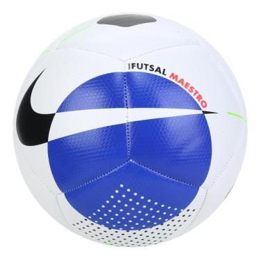 Imagem de Bola de Futebol Futsal Nike Maestro SC3974-100, Cor: Branco/Azul, Tamanho: PRO