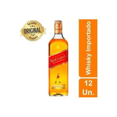 Kit 12 Whisky Importado Johnnie Walker Red Label 1l 8 Anos
