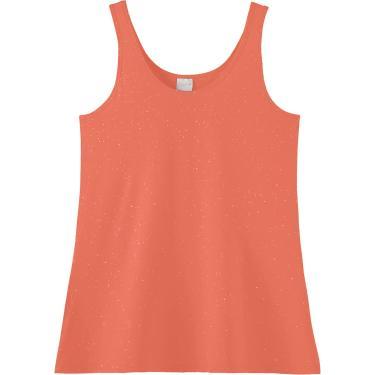 Camiseta Botonê, Malwee, Feminino, Laranja, XGG