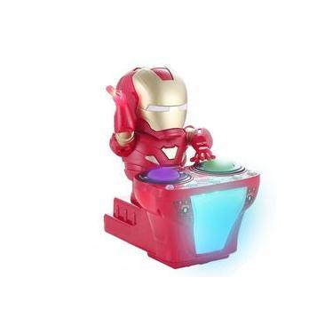 Marvel Avengers Endgame Super Heroes Dj Homem de Ferro LED e M¨²sica Brinquedos