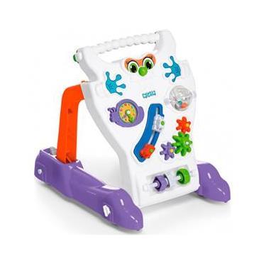 Andador Feliz Brinquedo Educativo Bebê Infantil Calesita Branco