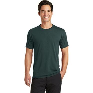 Camiseta Port & Company PC381 Blended Performance, Verde escuro, Médio