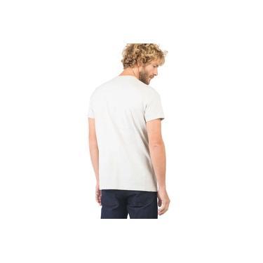T-Shirt Básica Premium Com Bolso Cru